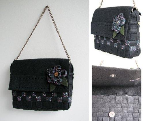 bolsa com corrente estilo Chanel