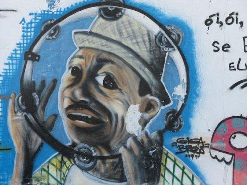 O paraibano Jackon do Pandeiro, no traço do grafiteiro conterrâneo Gigga Brow
