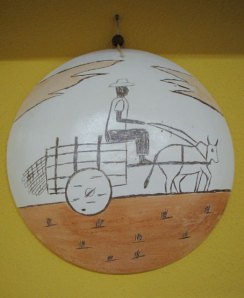 Prato de cerâmica modelo Ilha R$ 36 + frete