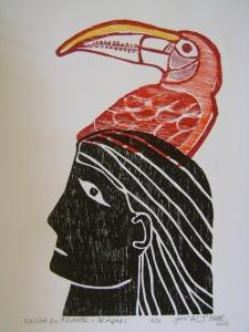 Rainha do Miramar e Araçari - R$150 (42cm X 30cm)