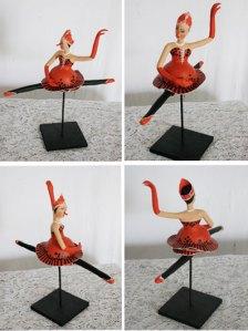 Bailarina de cabaça e papel machê 3, peça única: R$ 120 + frete