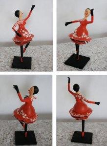 Bailarina de cabaça e papel machê: R$ 120 + frete