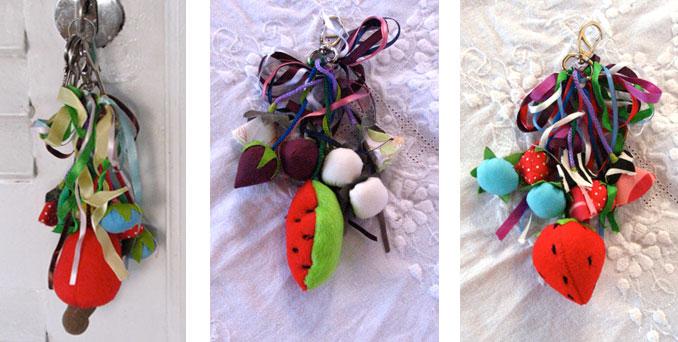 Bolsa De Festa De Feltro : Chaveiro frutas tecido feltro babel das artes