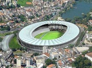 """O estádio do Recife terá capacidade de 46 mil pessoas, fará parte do complexo """"Cidade da Copa"""", orçada em R$ 1,6 bilhão."""