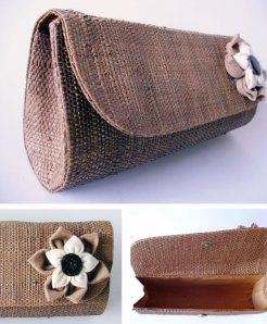Carteira com palha de buriti e algodão orgânico R$ 35