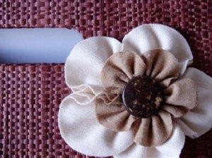 As flores de algodão colorido (orgânico)