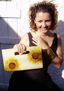 carteira de palha floral R$ 58 + frete