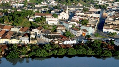 Hoje João Pessoa, PB, comemora 424 anos.Vista aérea do Centro Histórico e rio Sanhauá. (foto: PMJP)