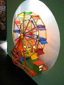 Roda-gigante G 75 cm x 45 cm x 55 cm (com luzes e motor - funciona por 10 horas)