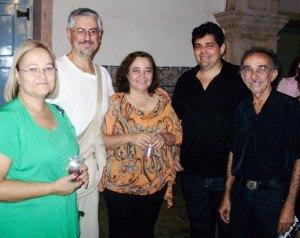 Selma Sanches, Francisco Milhorança, Lucia França, José Otávio Freire e Wilson Figueiredo
