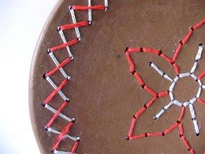 Detalhe de ceramica bordada do Sertão paraibano