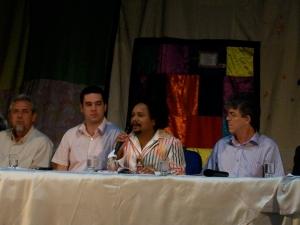 Chico César, secretário de Cultura, dá boas-vindas ao plenário