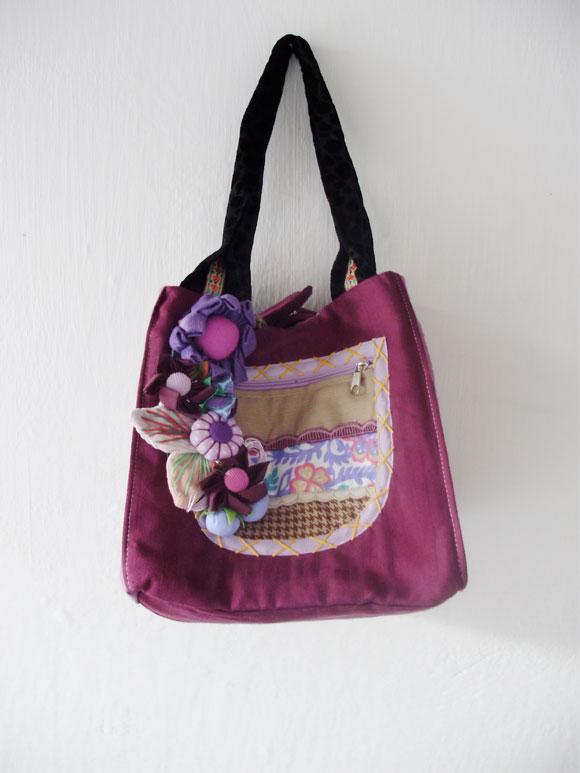 Bolsa De Fuxico Artesanato : Chegaram novas bolsas artesanais com fuxico babel das artes