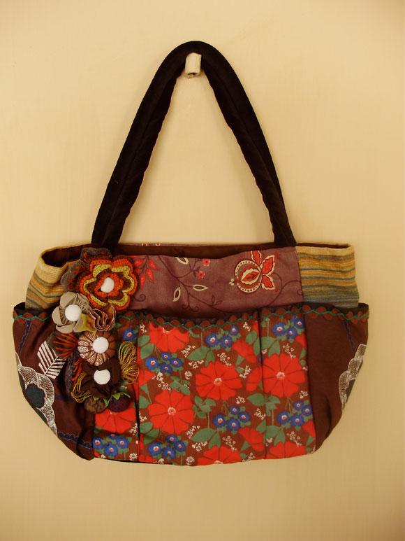Bolsa De Tecido Artesanal : Bolsas artesanais babel das artes
