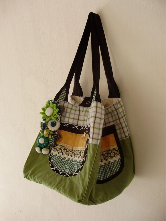 Bolsa De Praia Feita De Tecido : Chegaram bolsas artesanais de tecido com fuxico babel