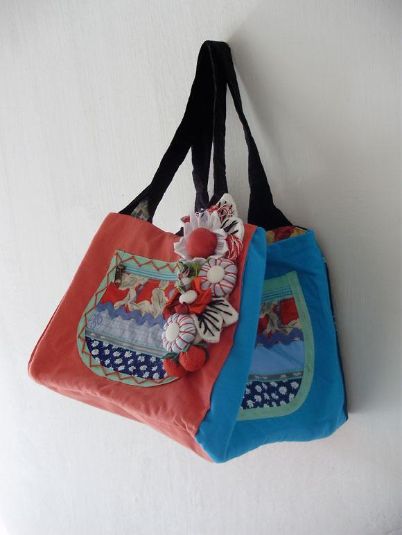Bolsa De Fuxico Passo Apasso : Chegaram bolsas artesanais de tecido com fuxico babel