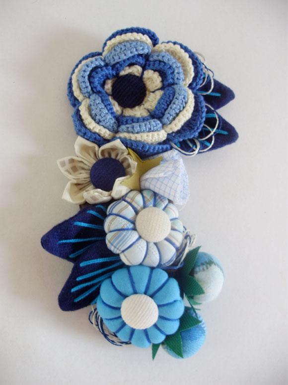 Adesivo De Alto Desempenho Para Argamassas ~ Broche de fuxico e flor de croch u00ea para customizar bolsas e roupas Babel das Artes