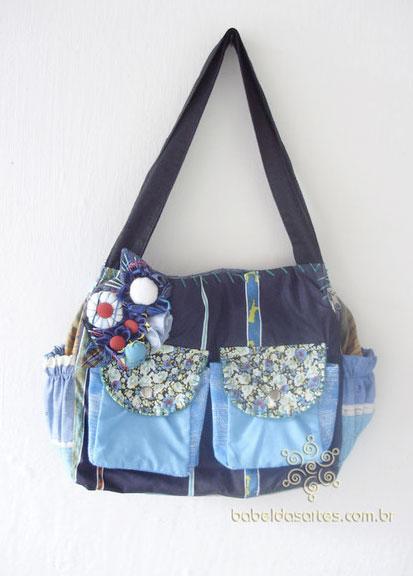 Bolsa De Tecido Artesanal : Bolsas artesanais de tecido elza vc precisa uma
