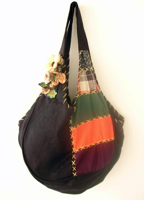 Bolsa De Tecido Artesanal : Bolsa patchwork babel das artes