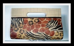Carteira de palha Safari