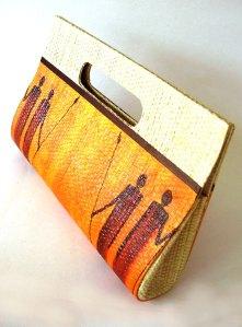 carteira de palha tema afro